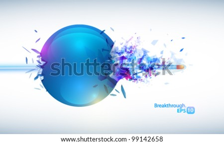 Exploding ball - stock vector