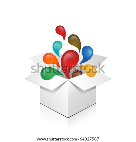 exploding gift box   abstract