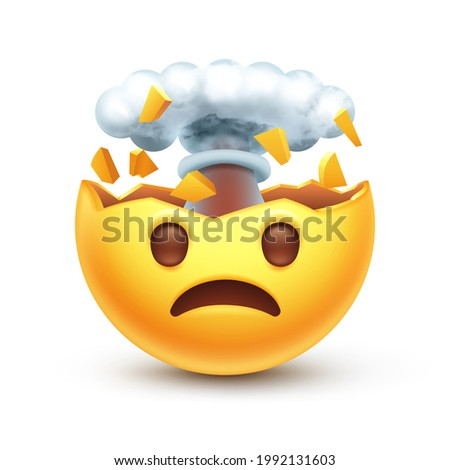 exploding head emoji mind