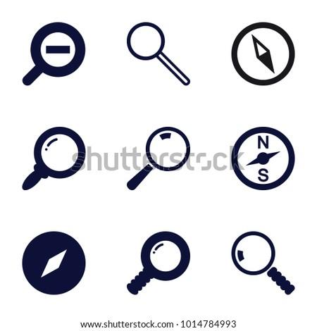 exploration icons set of 9