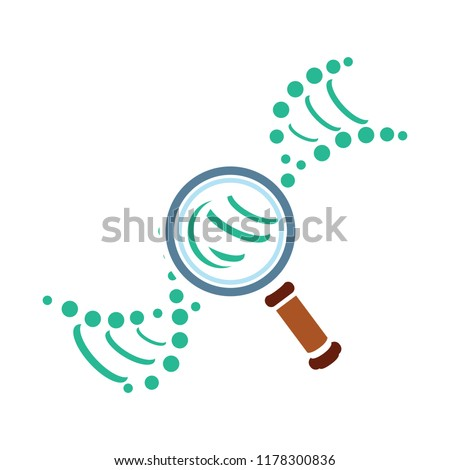 Explore Dna vector icon. Style is bicolor flat symbol, rounded angles, white background