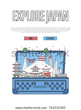explore japan poster with