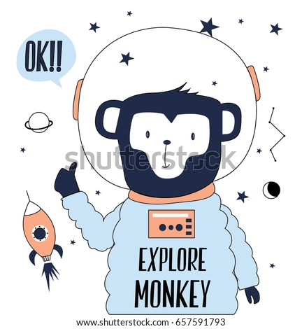 explore monkey illustration