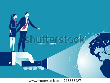 Exploring the world. Business concept illustration