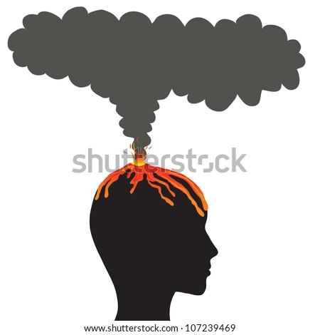 explosion brain  volcano erupts