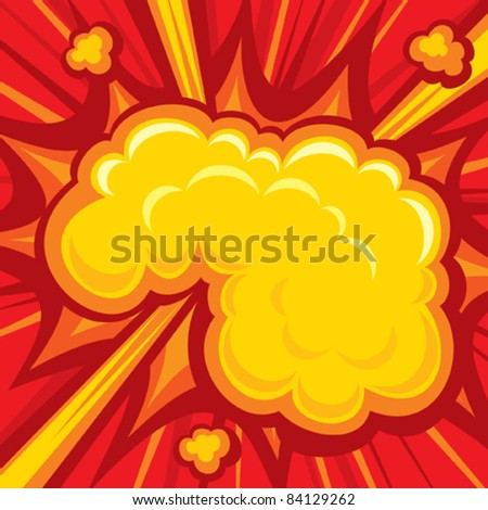 Explosion (Comic Book Explosion Background)