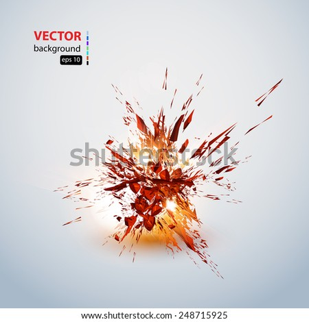 explosion grunge background