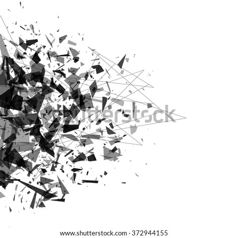 explosion of black shards