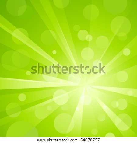 Explosion Of Light With Shiny Light Dots, Striking Abstract