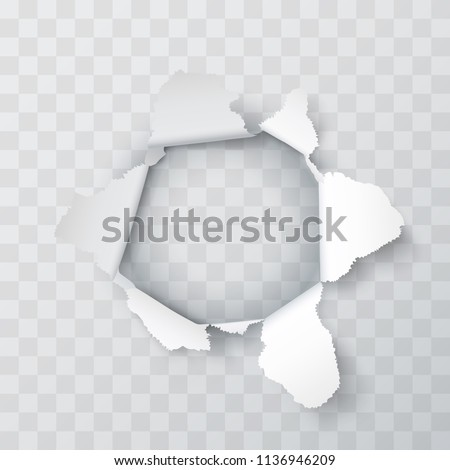 explosion paper hole on the