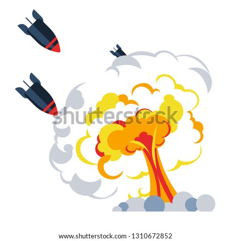 explosion war bomb flame
