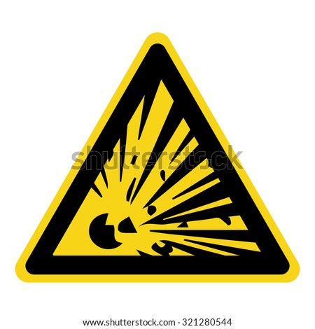 explosive hazard sign danger