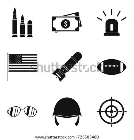 explosive icons set simple set