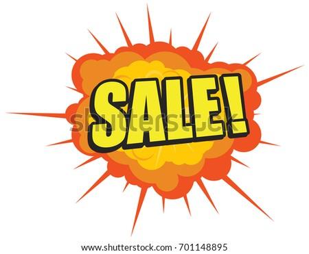 explosive sale label vector