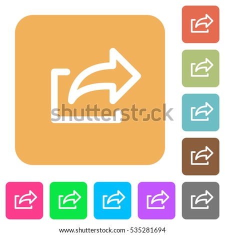 Export icons on rounded square vivid color backgrounds.