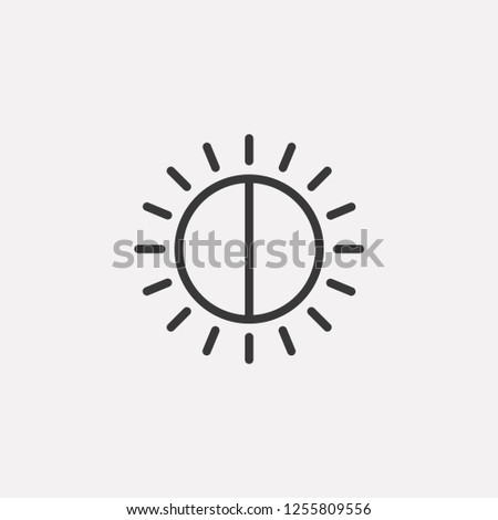 Exposure compensation icon isolated on background. Photography symbol modern, simple, vector, icon for website design, mobile app, ui. Vector Illustration Stock photo ©