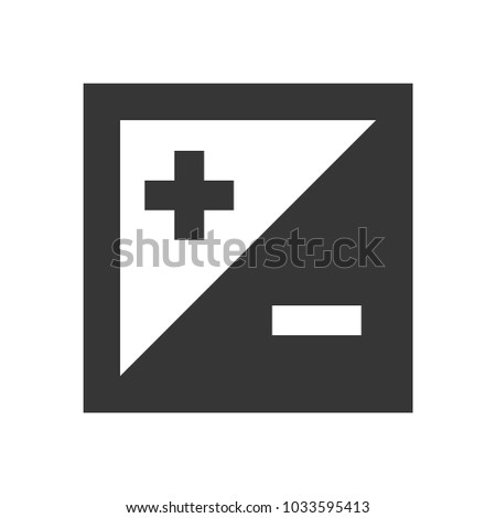 Exposure Compensation Icon on White Background. Vector Stock photo ©