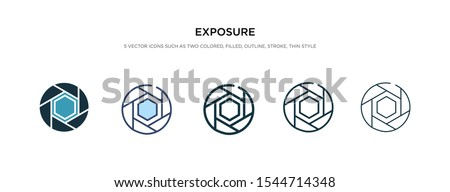 exposure icon in different style vector illustration. two colored and black exposure vector icons designed in filled, outline, line and stroke style can be used for web, mobile, ui Stock photo ©
