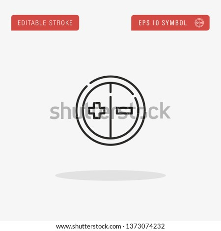 Exposure linear vector icon. Modern outline Exposure logo concept from Camera Interface collection. Suitable for use on web apps, mobile apps and print media.