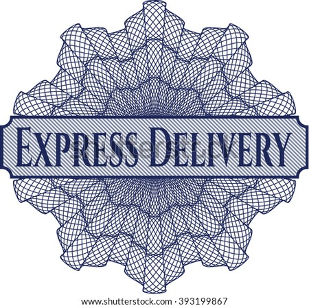 Express Delivery abstract linear rosette