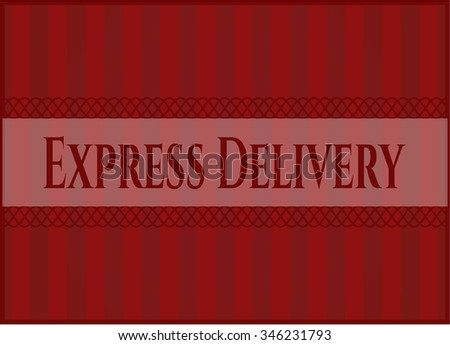 Express Delivery banner or poster