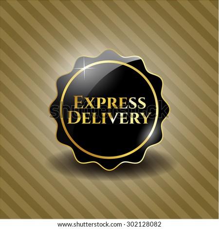 Express Delivery black emblem