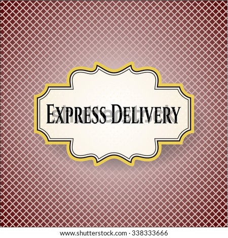 Express Delivery card or poster