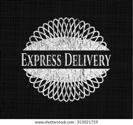 Express Delivery chalkboard emblem