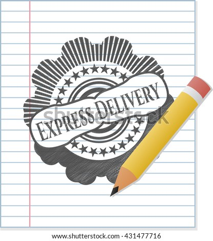 Express Delivery drawn in pencil