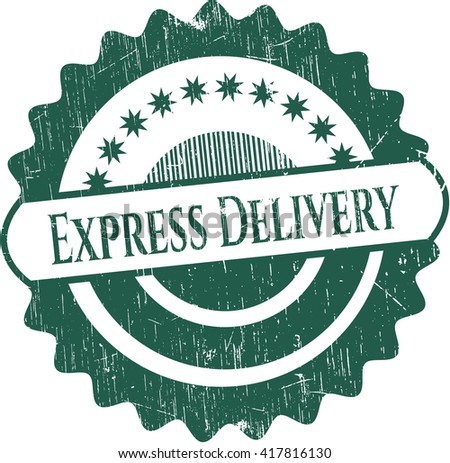 Express Delivery grunge seal