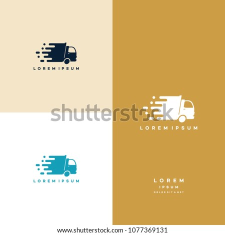 Express Delivery logo designs, Fast Truck logo template vector