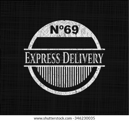 Express Delivery on chalkboard