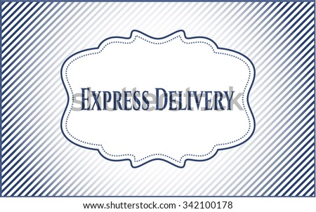 Express Delivery poster or card