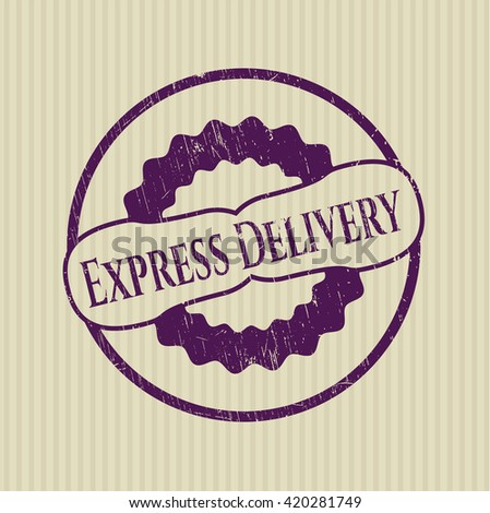 Express Delivery rubber grunge seal