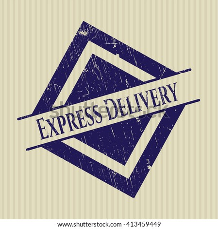 Express Delivery rubber grunge stamp