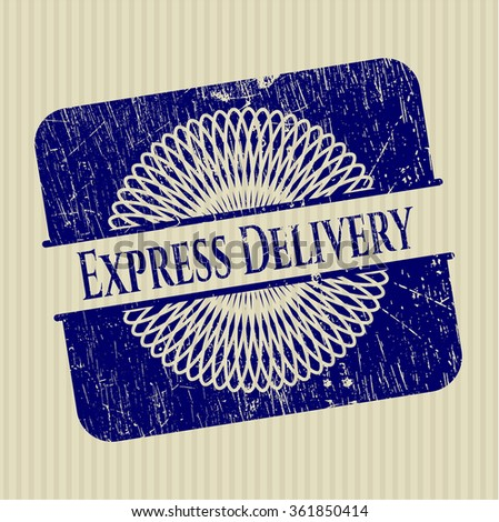 Express Delivery rubber grunge texture stamp