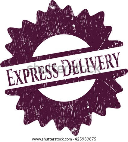 Express Delivery rubber stamp with grunge texture