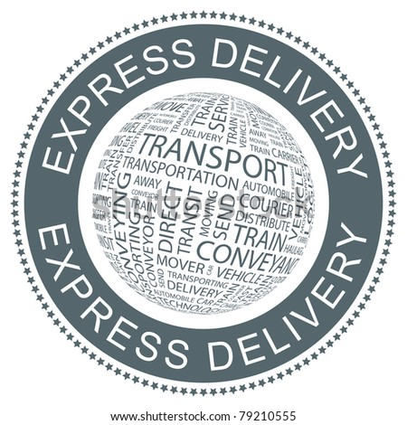 Express delivery. Vector illustration for sale.