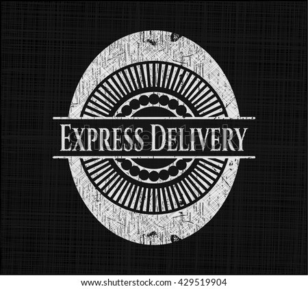 Express Delivery with chalkboard texture