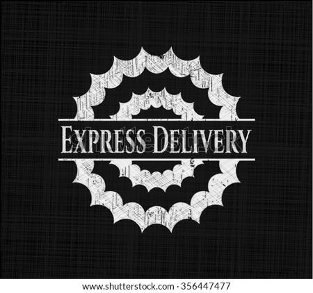 Express Delivery written on a blackboard