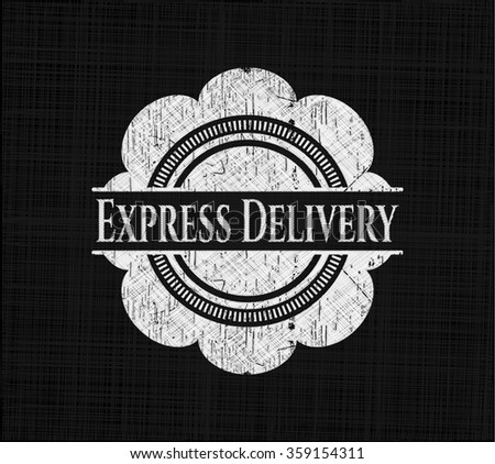 Express Delivery written on a chalkboard