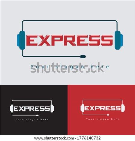 Express logo,wordmark logo,combination logo,music logo,broadcast logo.