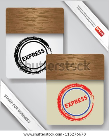 Express stamp on old paper,Vector