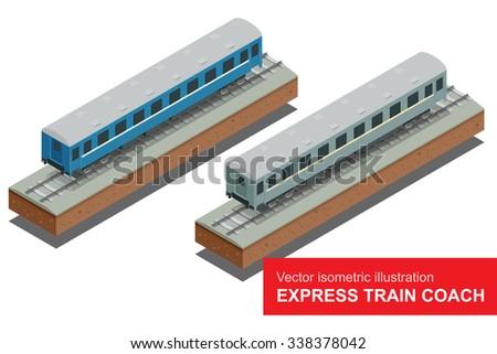 express train coach vector