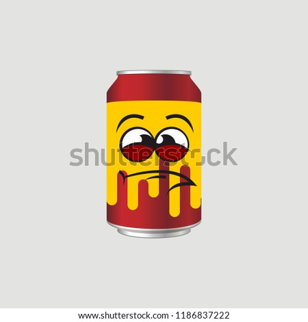 expression of canned drinks