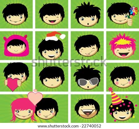 expressions of boy's fa e