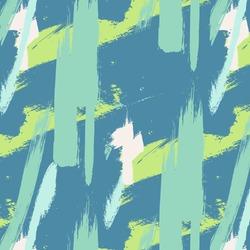 Expressive minimalistic pattern. Contemporary green pastel decoration. Hipster hand drawn brush print. Stylish vector geometric strokes fantasy print .Speed style art