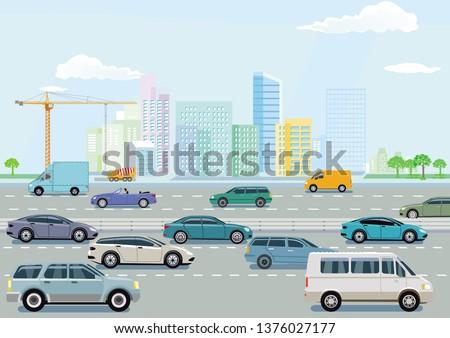 Expressway in a big city