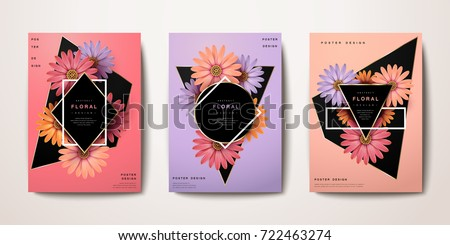 Exquisite chic classic reality floral poster and brochure design, book cover design, fashion poster, wedding card, vector illustration. - Shutterstock ID 722463274