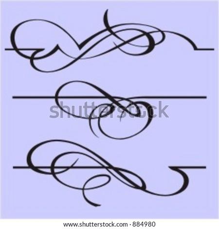 Exquisite Design Elements 3 (Vector) Very clean and exquisite design elements of ornamental type.  Very clean vectors! - stock vector